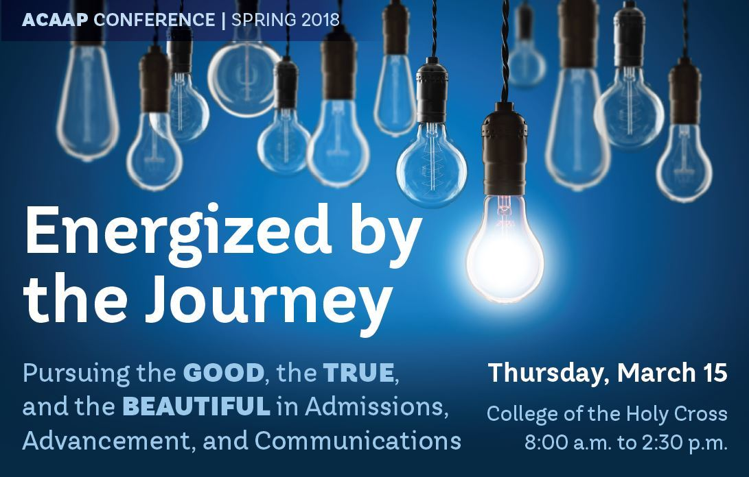 ENERGIZED BY THE JOURNEY! Join ACAAP for our Spring 2017 Conference on March 15.